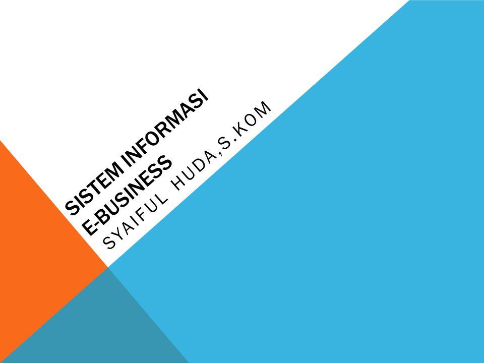 SISTEM INFORMASI E-BUSINESS SYAIFUL HUDA,S.KOM