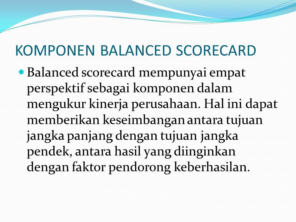 Mengkomunikasikan dan mengkaitkan tujuan serta ukuran Strategi Tujuan dan ukuran strategis balanced scorecard dikomunikasikan ke seluruh organisasi me