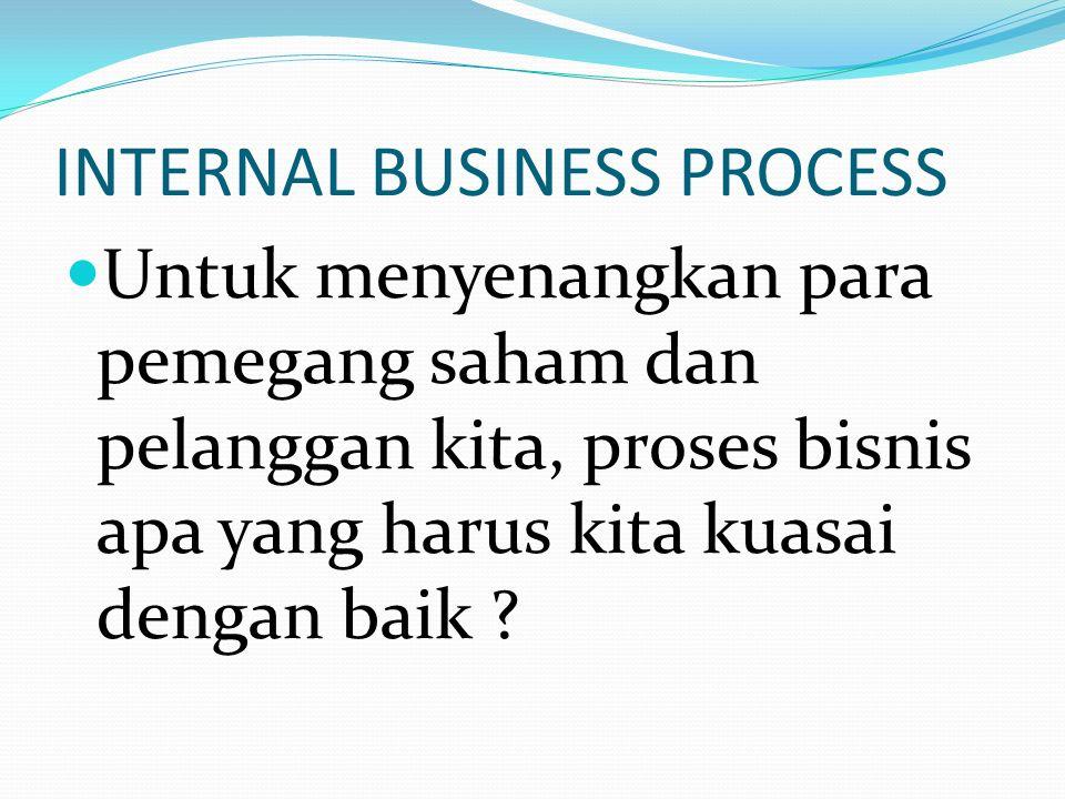 FINANCIAL Untuk berhasil secara finansial, apa yang harus kita perlihatkan kepada para pemegang saham kita ?