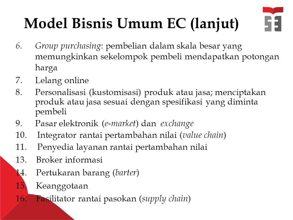 Model Bisnis Umum EC (lanjut) 6.