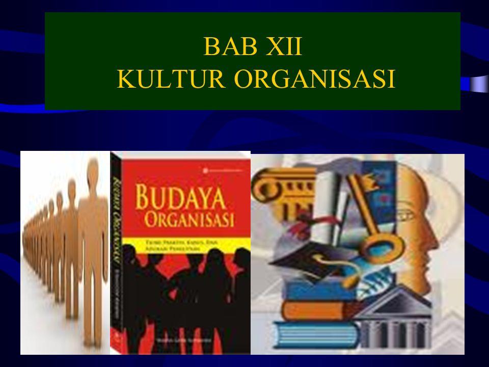 BAB XII KULTUR ORGANISASI 9/17/20161