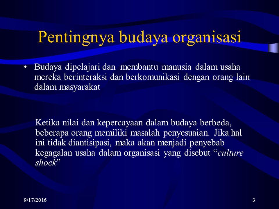 KARAKTERISTIK BUDAYA ORGANISASI Robbins dan Judge (2008:256) ada tujuh karakteristik utama yang secara keseluruhan merupakan hakekat kultur sebuah organisasi yaitu: 1.Inovasi dan keberanian mengambil risiko.