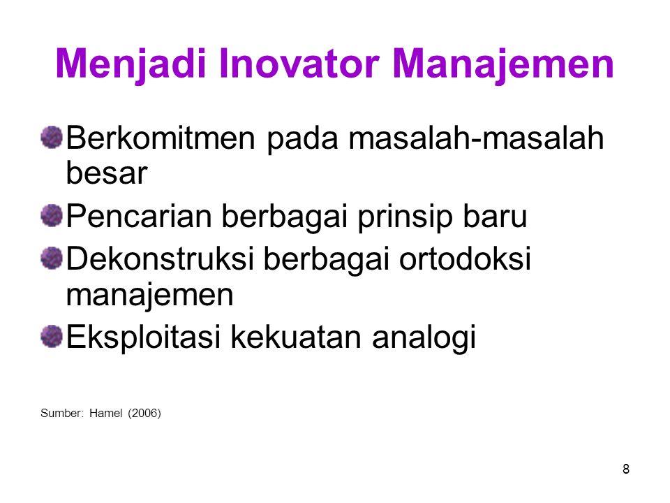 99 Perubahan Paradigma Manajemen Paradigma Lama Perubahan perspektif manajemen terjadi sebagai respon terhadap berbagai perubahan lingkungan organisasi yang terjadi secara dramatik.