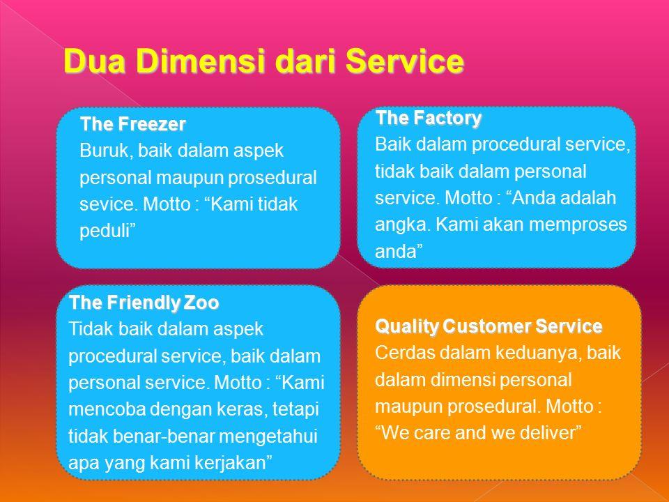 The Freezer Buruk, baik dalam aspek personal maupun prosedural sevice.