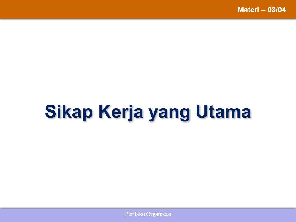 Perilaku Organisasi Sikap Kerja yang Utama Materi – 03/04