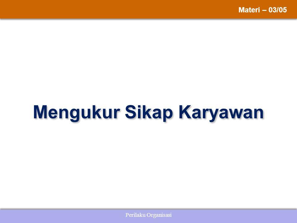 Perilaku Organisasi Mengukur Sikap Karyawan Materi – 03/05