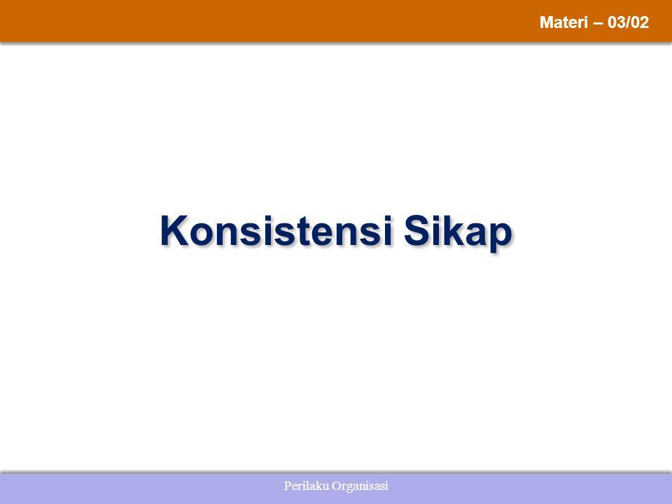 Perilaku Organisasi Konsistensi Sikap Materi – 03/02