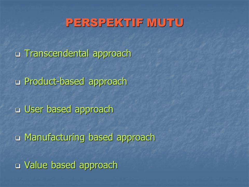 DIMENSI MUTU Performa Performa Keistimewaan (feature) Keistimewaan (feature) Keandalan (reliability) Keandalan (reliability) Konformasi (conformance)