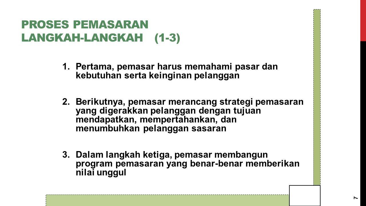 TAHAP IV Melaksanakan dan mengendalikan rencana pemasaran yg telah disusun. 38