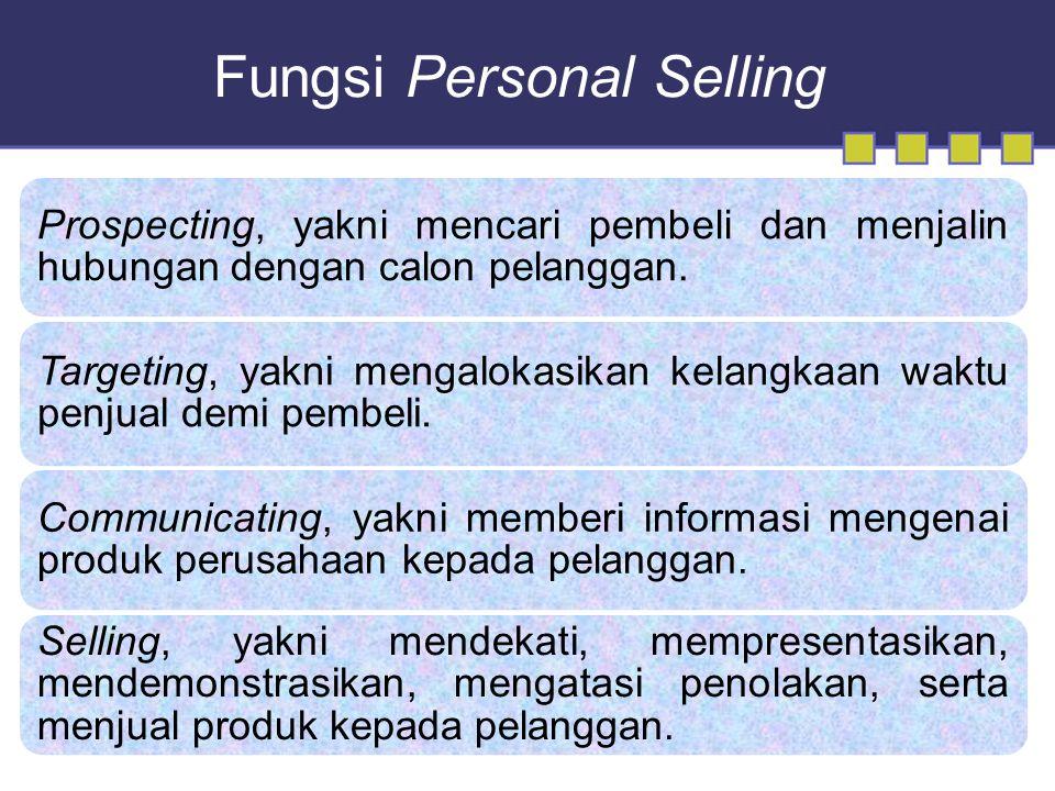 Fungsi Personal Selling Prospecting, yakni mencari pembeli dan menjalin hubungan dengan calon pelanggan.