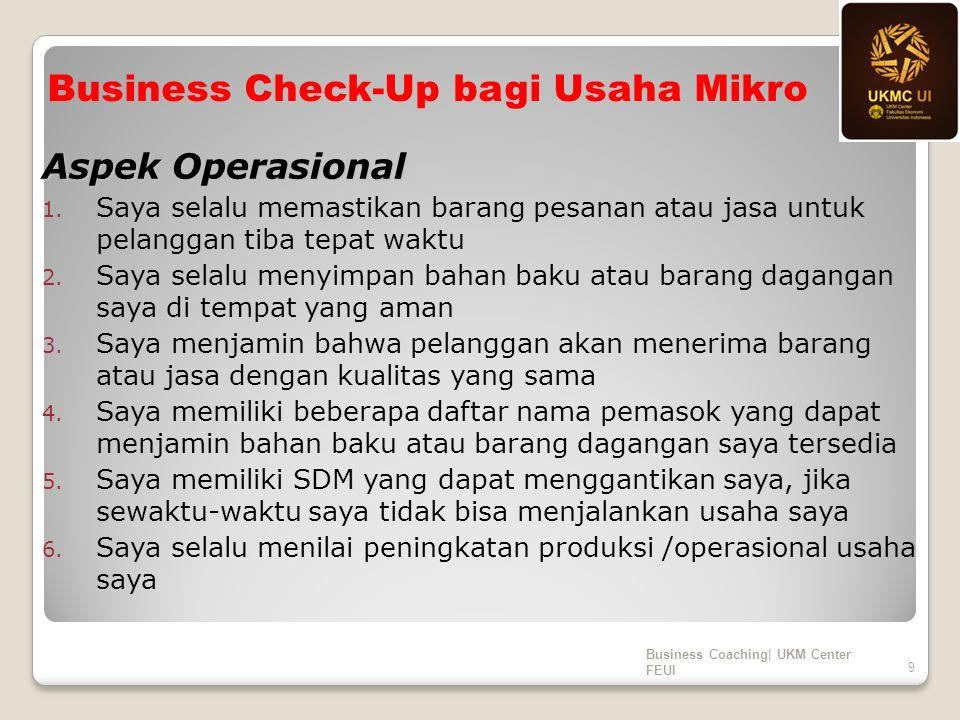 Aspek Operasional 1.