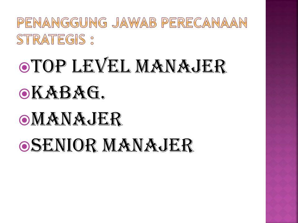  Top level manajer  Kabag.  Manajer  Senior Manajer