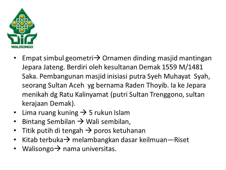 Empat simbul geometri  Ornamen dinding masjid mantingan Jepara Jateng.