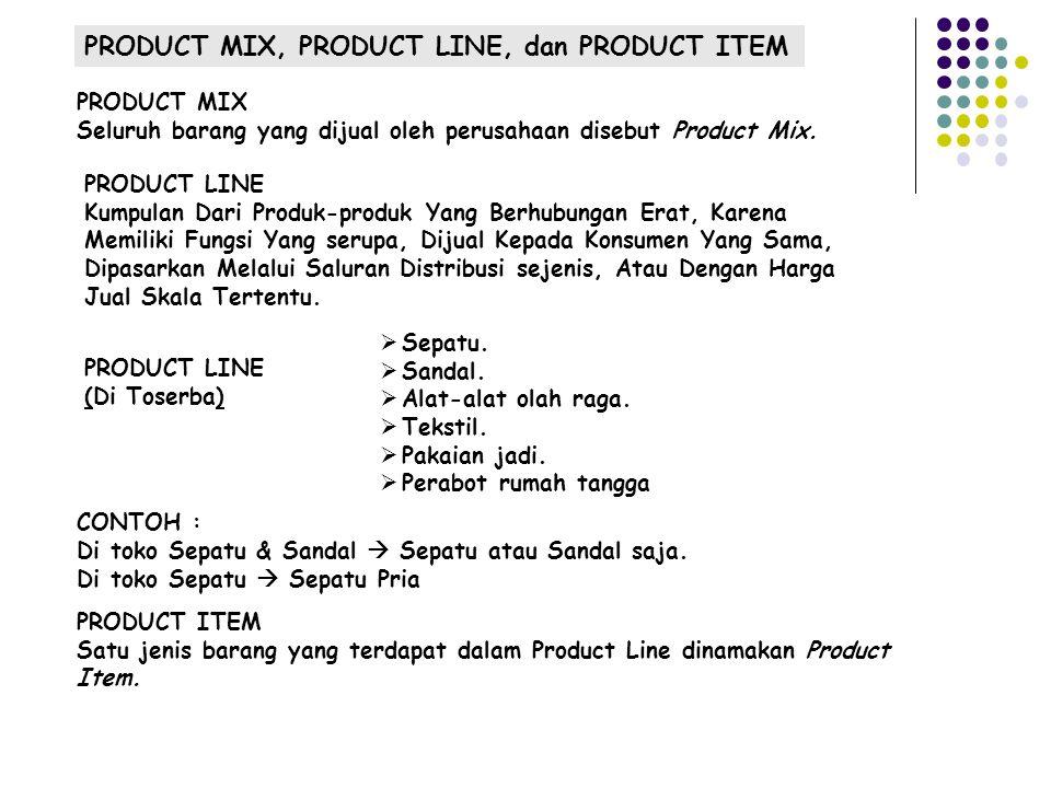 PRODUCT MIX, PRODUCT LINE, dan PRODUCT ITEM  Sepatu.