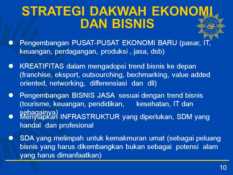 KREATIFITAS dalam mengadopsi trend bisnis ke depan (franchise, eksport, outsourching, bechmarking, value added oriented, networking, differensiasi dan