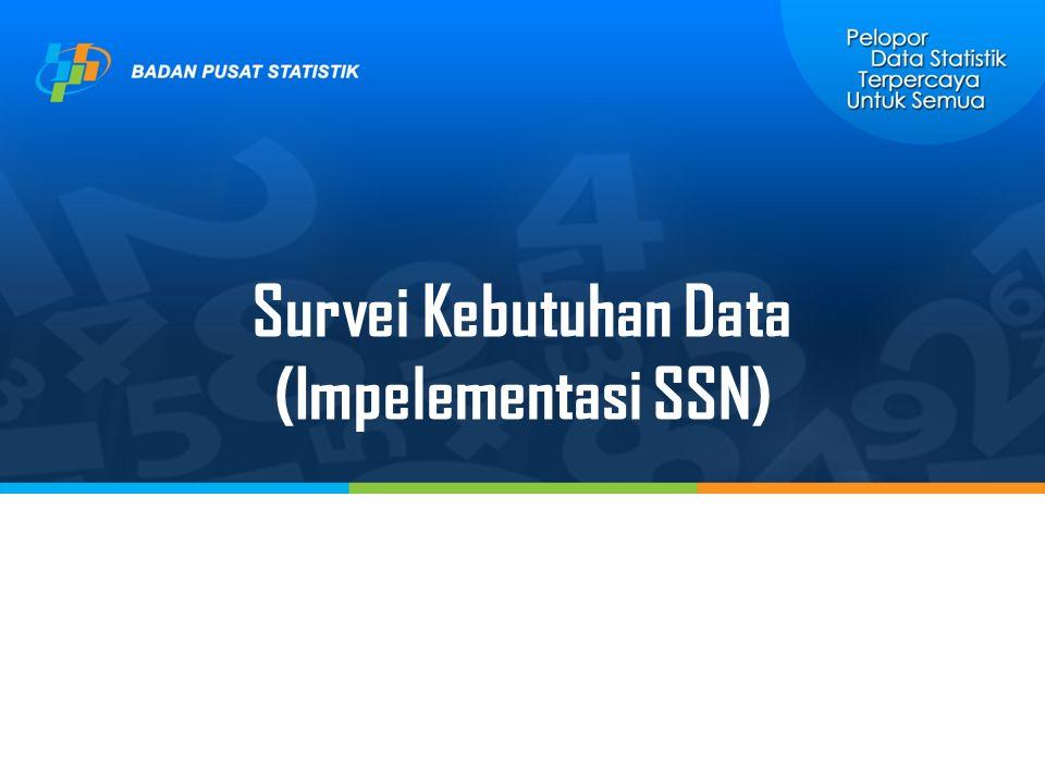 Survei Kebutuhan Data (Impelementasi SSN)