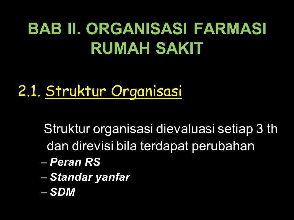 BAB II. ORGANISASI FARMASI RUMAH SAKIT 2.1.