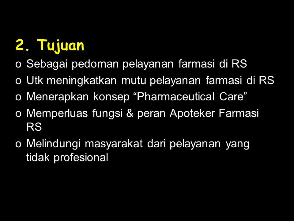 3.Sistematika Bab I. Farmasi RS Bab II. Organisasi Farmasi RS Bab III.