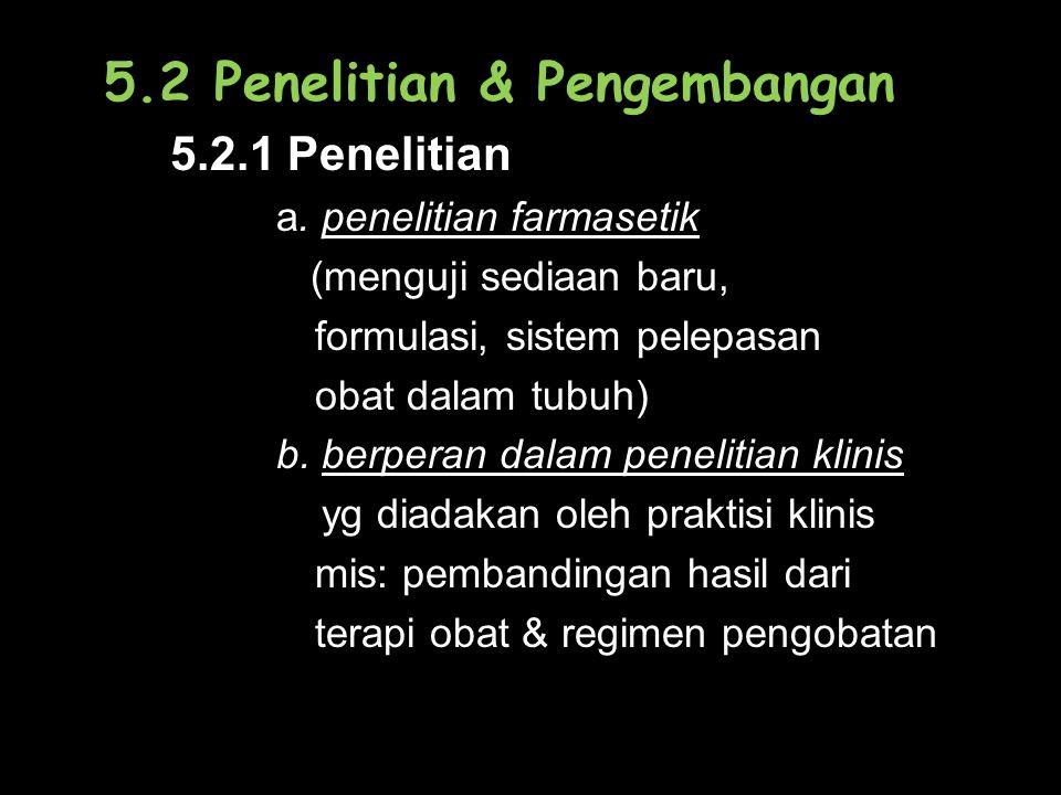 5.2 Penelitian & Pengembangan 5.2.1 Penelitian a.