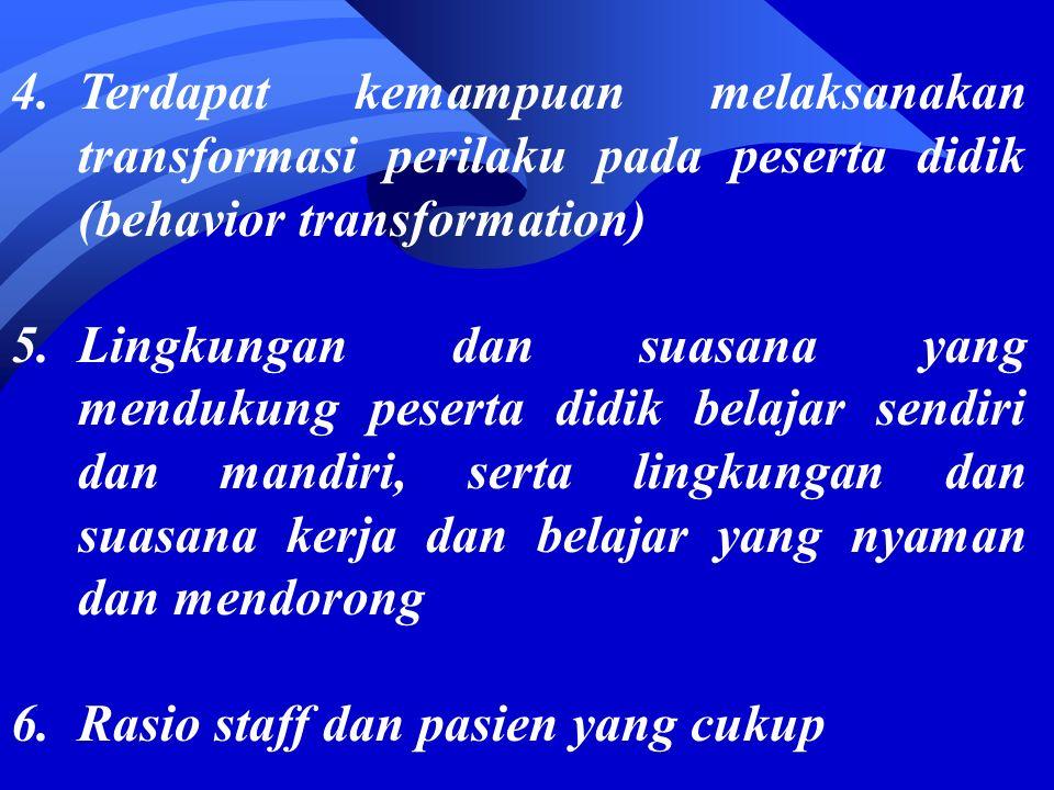 Rumah Sakit Pendidikan di Indonesia Permenkes RI no 512/Menkes/Per/IV/2007 yang merupakan salah satu peraturan pelaksanaan Undang undang nomor 29 tentang Praktik Kedokteran : Penetapan RS menjadi RS Pendidikan, standar RS Pendidikan Standar RS atau sarana pelayanan kesehatan lainnya Sebagai jejaring pendidikan Ditetapkan dengan Keputusan Menteri Kesehatan berdasarkan standar RS sebagai RS Pendidikan.