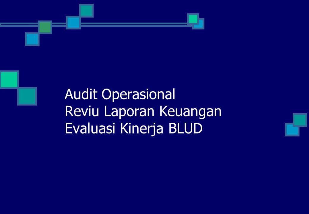 Audit Operasional Reviu Laporan Keuangan Evaluasi Kinerja BLUD