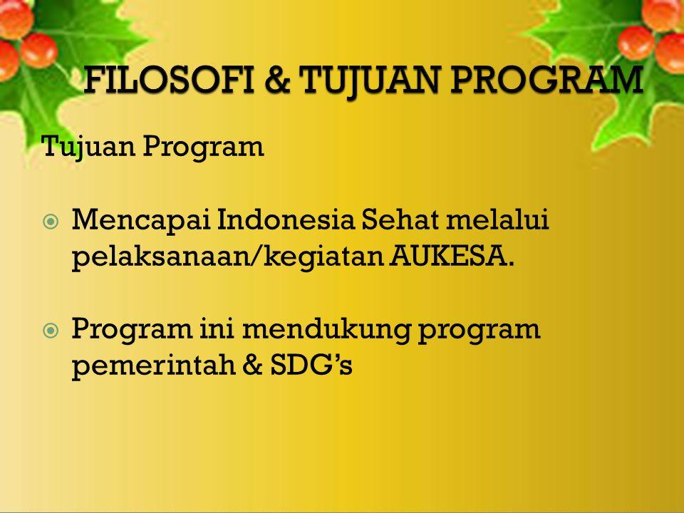 Tujuan Program  Mencapai Indonesia Sehat melalui pelaksanaan/kegiatan AUKESA.