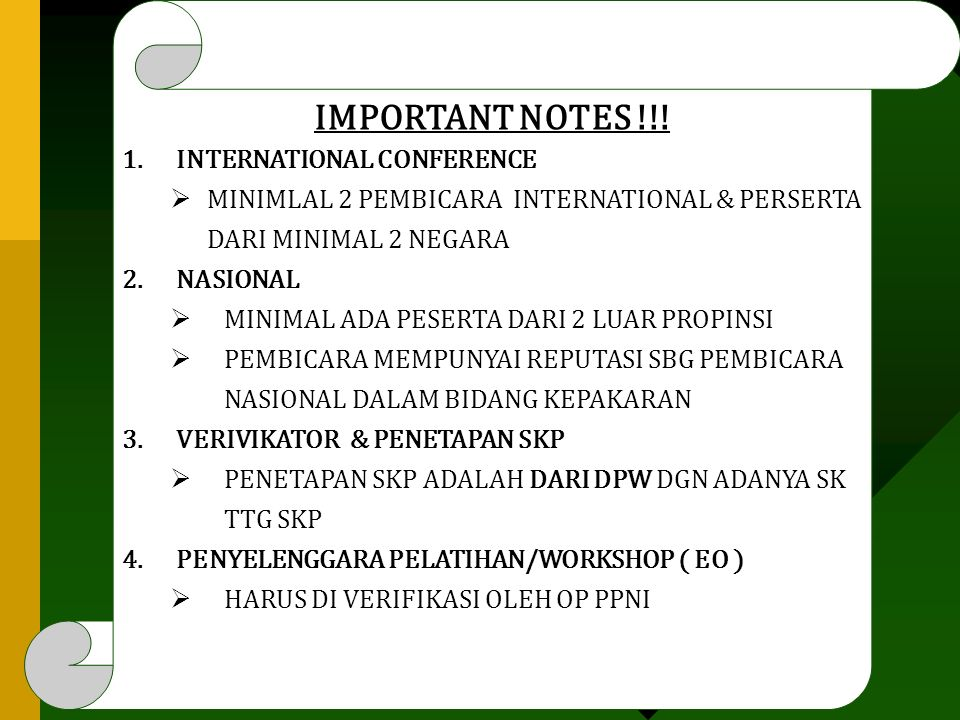 IMPORTANT NOTES !!.