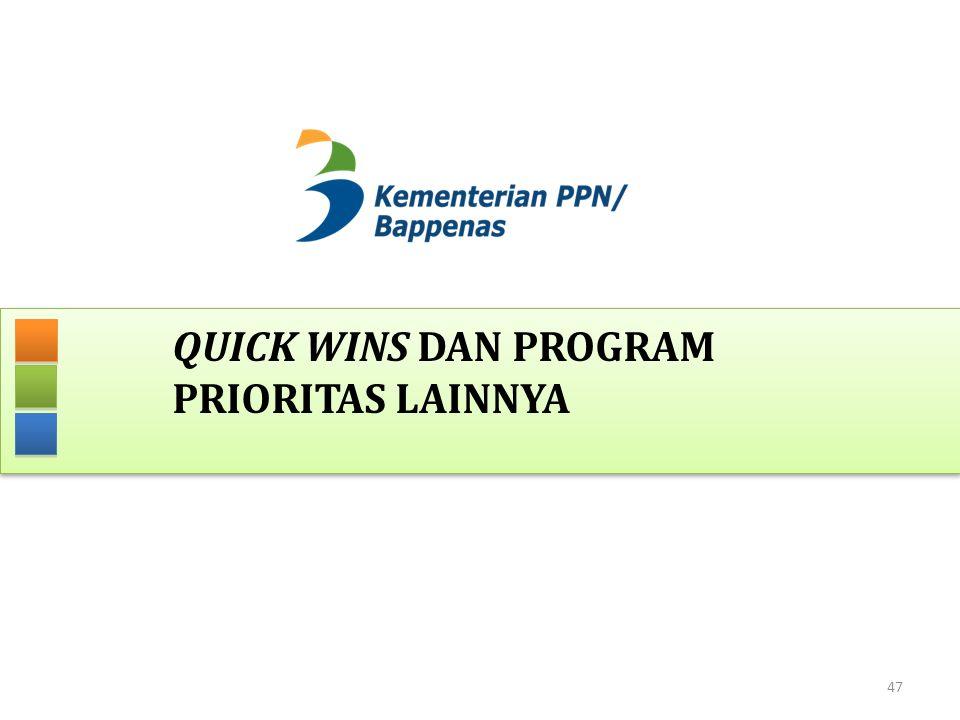 QUICK WINS DAN PROGRAM PRIORITAS LAINNYA 47