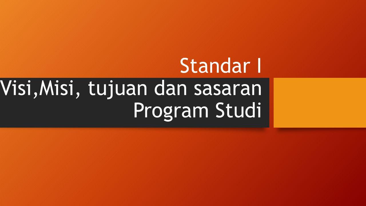 Standar I Visi,Misi, tujuan dan sasaran Program Studi