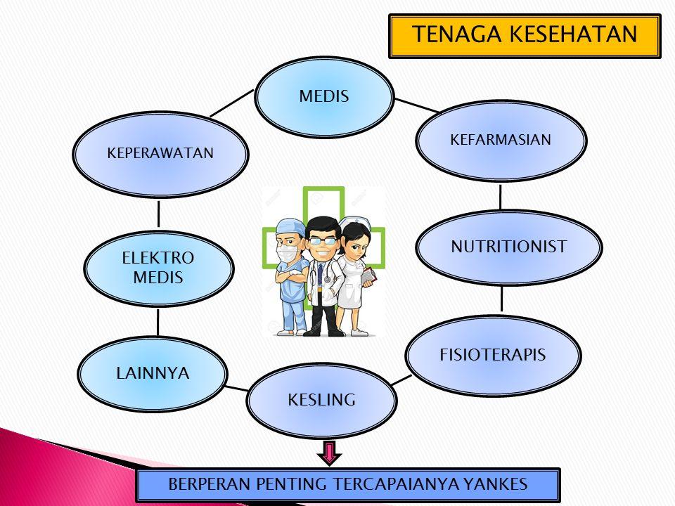 TENAGA KESEHATAN MEDIS KEFARMASIAN FISIOTERAPIS NUTRITIONIST KESLING KEPERAWATAN ELEKTRO MEDIS LAINNYA BERPERAN PENTING TERCAPAIANYA YANKES