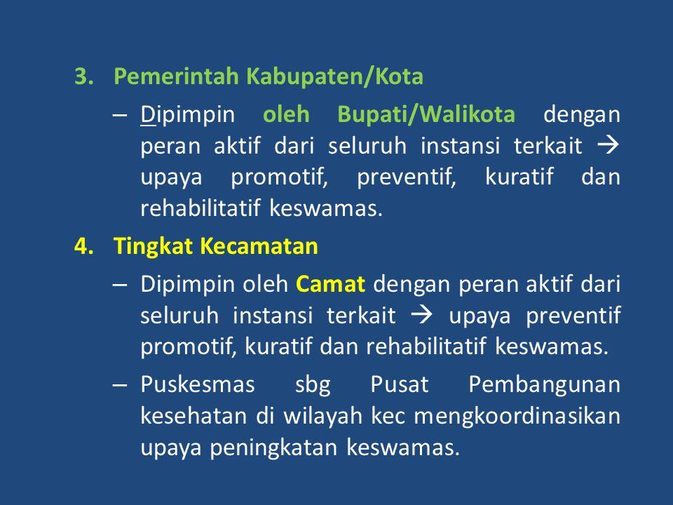 A.Pemerintah : 1.Pemerintah Pusat melalui TP-KJM  mengkoordinasikan kebijakan dan kegiatan di tingkat nasional. 2.Pemerintah Propinsi, – Dipimpin ole