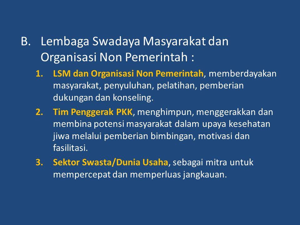 7.DPD (Dewan perwakilan Daerah) memberikan dukungan yang positif kepada pemerintah pusat maupun daerah untuk mendukung upaya kesehatan jiwa masyarakat