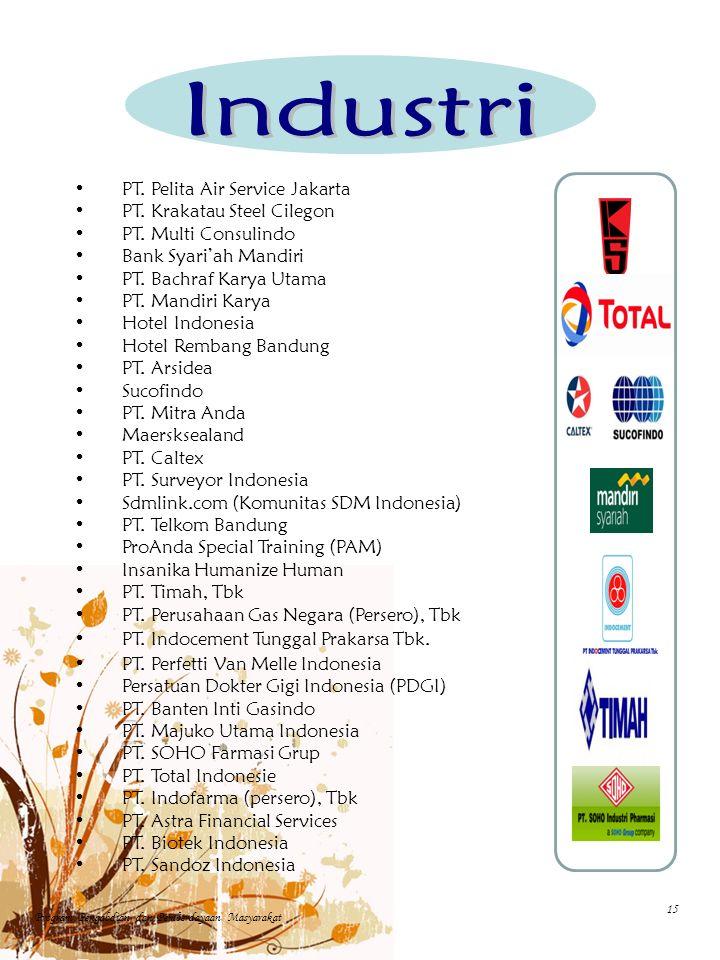 PT. Pelita Air Service Jakarta PT. Krakatau Steel Cilegon PT.