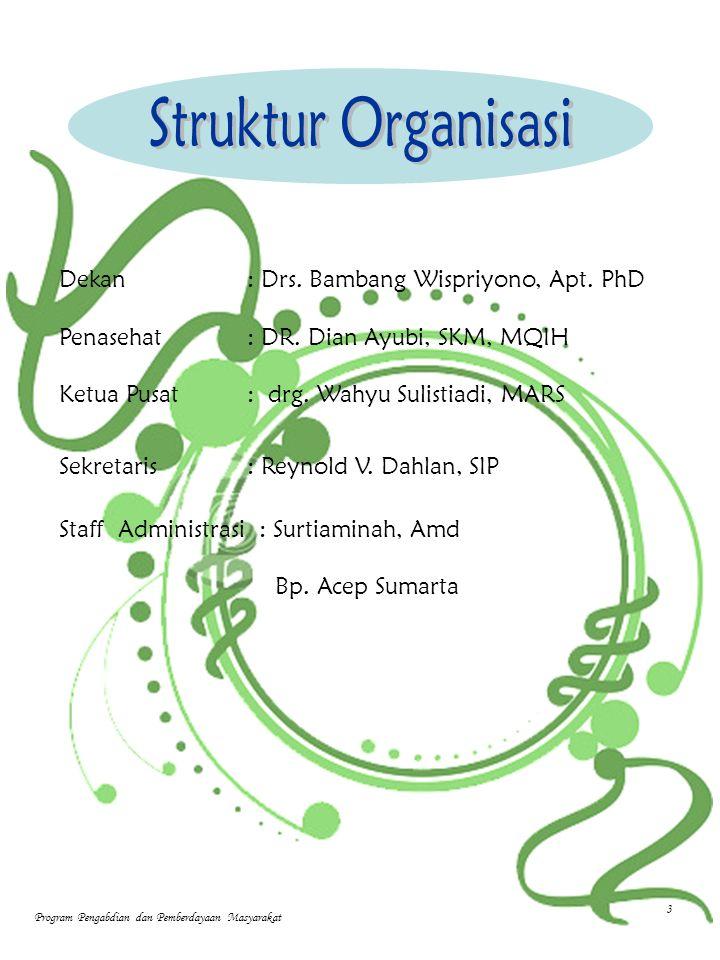 Dekan: Drs. Bambang Wispriyono, Apt. PhD Penasehat: DR.