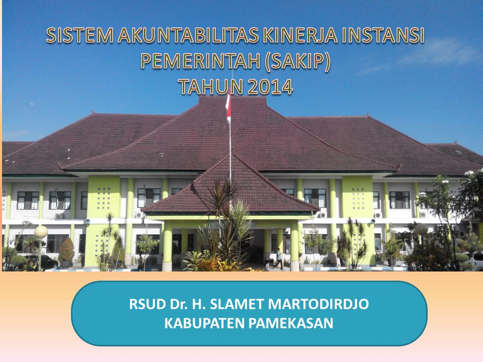 Data kunjungan Pasien di RSUD Dr. H. Slamet Martodirdjo Pamekasan Tahun 2014