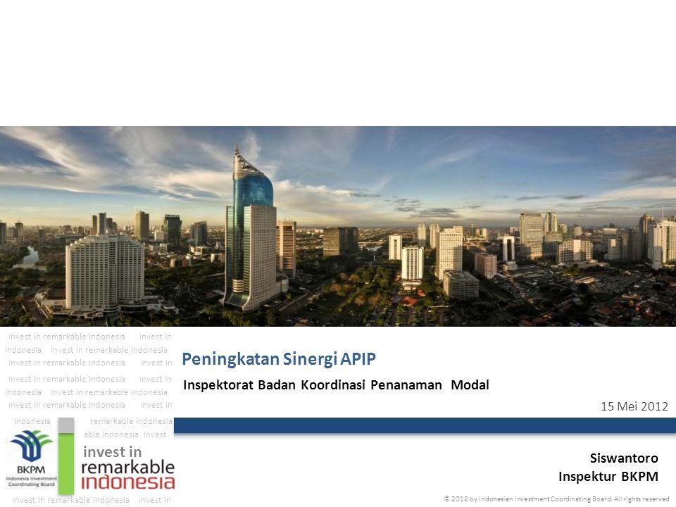 The Investment Coordinating Board of the Republic of Indonesia 12 Target Realisasi Penanaman Modal: Renstra BKPM 2010 - 2014 Iklan LKPM di koran Nasional Bimbingan/sosialisasi LKPM di 33 Provinsi Dekonsentrasi ke PemProv (Rp.