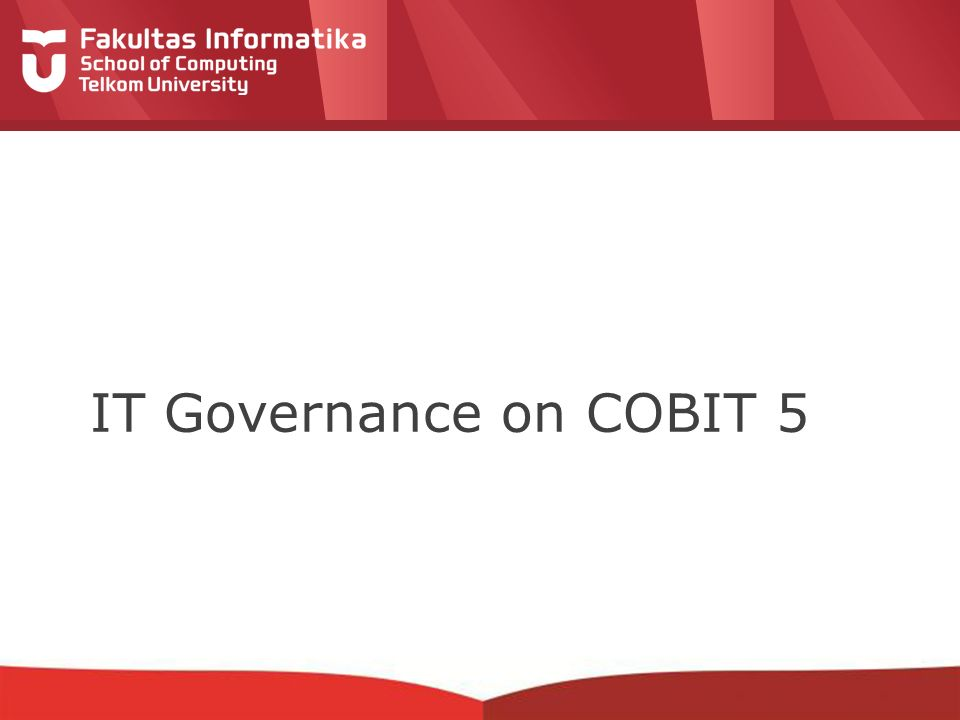12-CRS-0106 REVISED 8 FEB 2013 IT Governance on COBIT 5