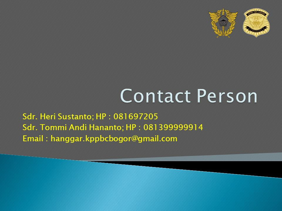 Sdr. Heri Sustanto; HP : 081697205 Sdr.