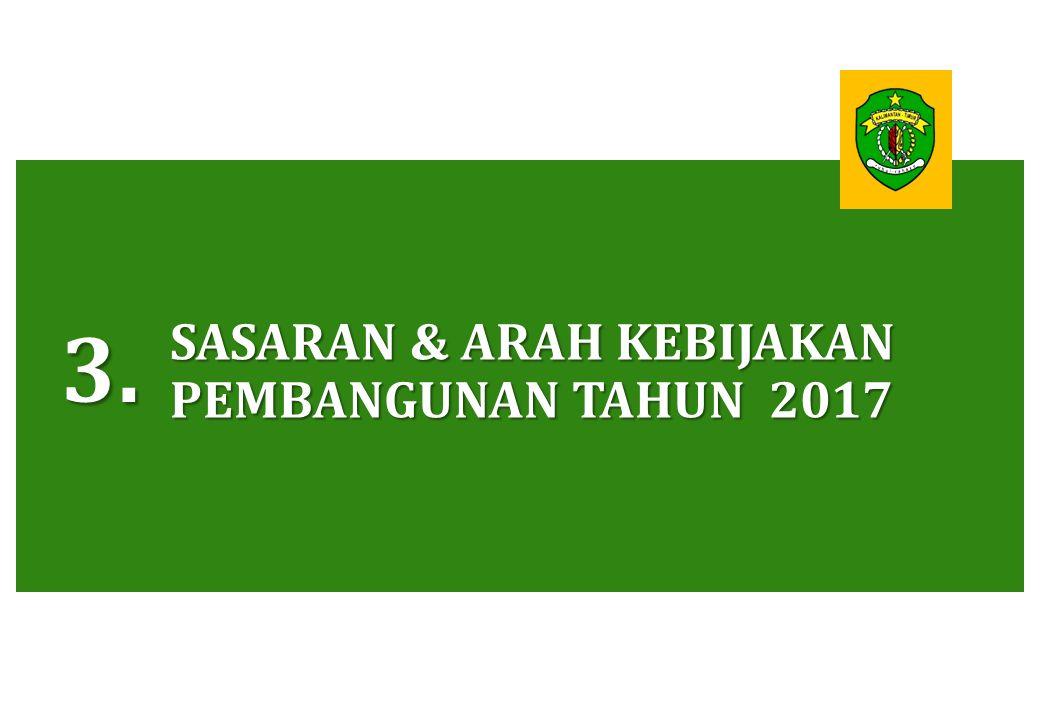 SASARAN & ARAH KEBIJAKAN PEMBANGUNAN TAHUN 2017 3.