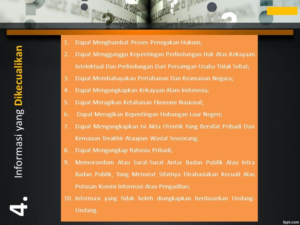 Informasi yang Dikecualikan 4.
