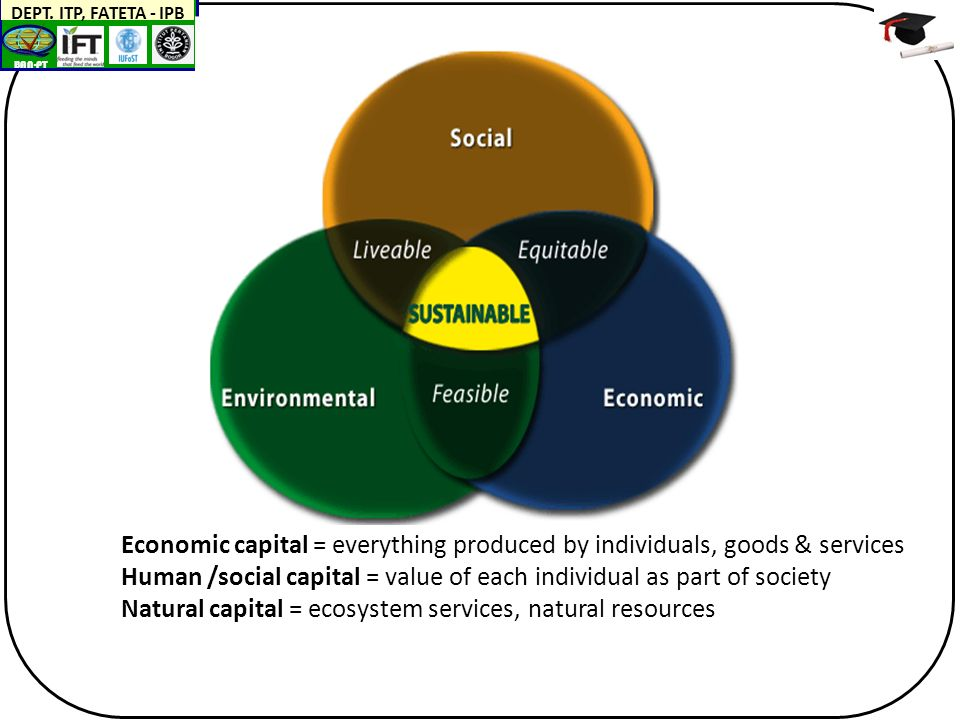 BAN-PT DEPT. ITP, FATETA - IPB Economic capital = everything produced by individuals, goods & services Human /social capital = value of each individua