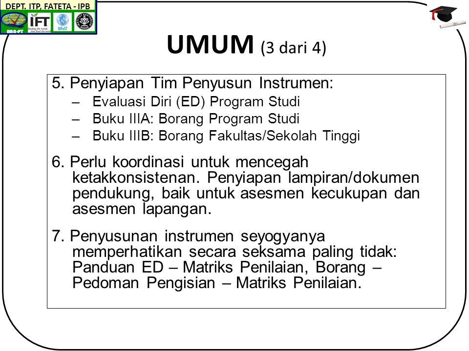 BAN-PT DEPT. ITP, FATETA - IPB UMUM (3 dari 4) 5.