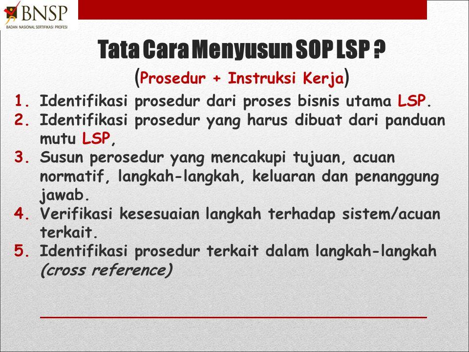 Tujuh kriteria SOP yang baik !!.