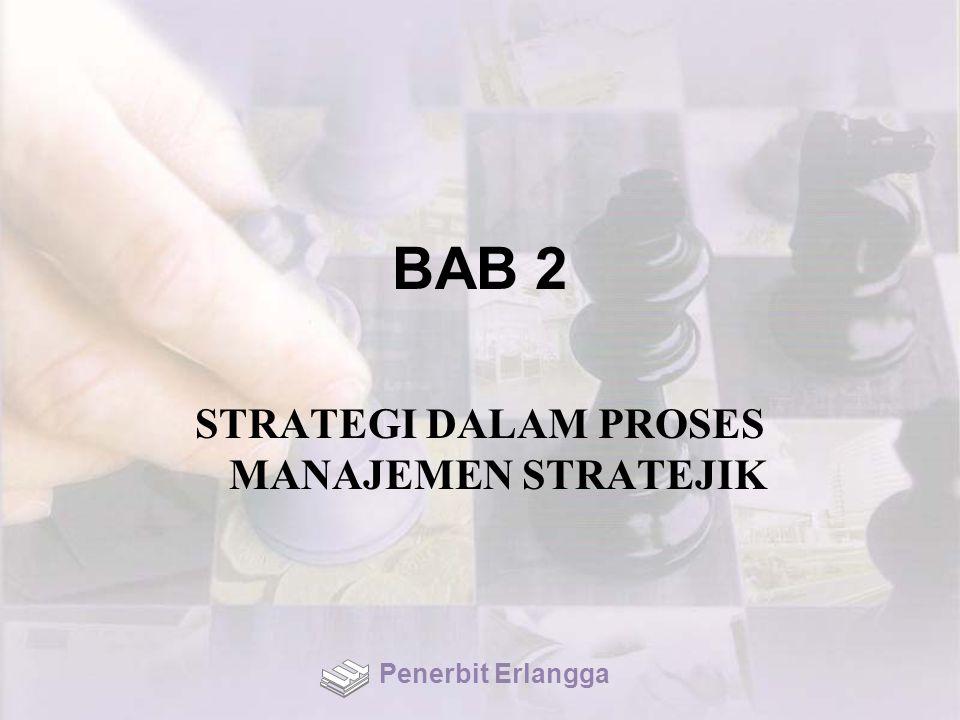 BAB 2 STRATEGI DALAM PROSES MANAJEMEN STRATEJIK Penerbit Erlangga