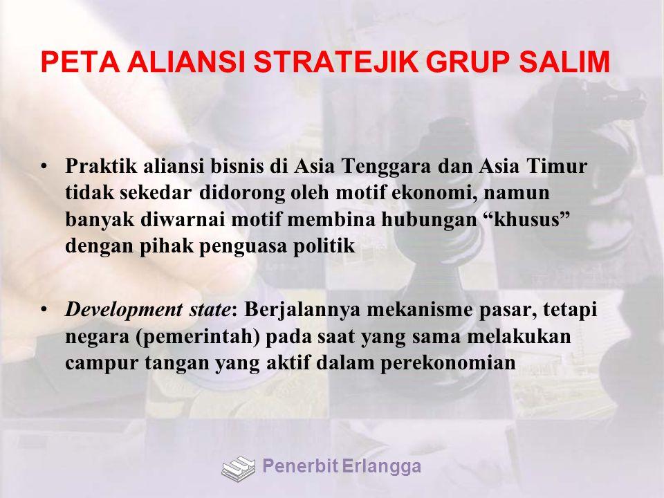 PETA ALIANSI STRATEJIK GRUP SALIM Praktik aliansi bisnis di Asia Tenggara dan Asia Timur tidak sekedar didorong oleh motif ekonomi, namun banyak diwar