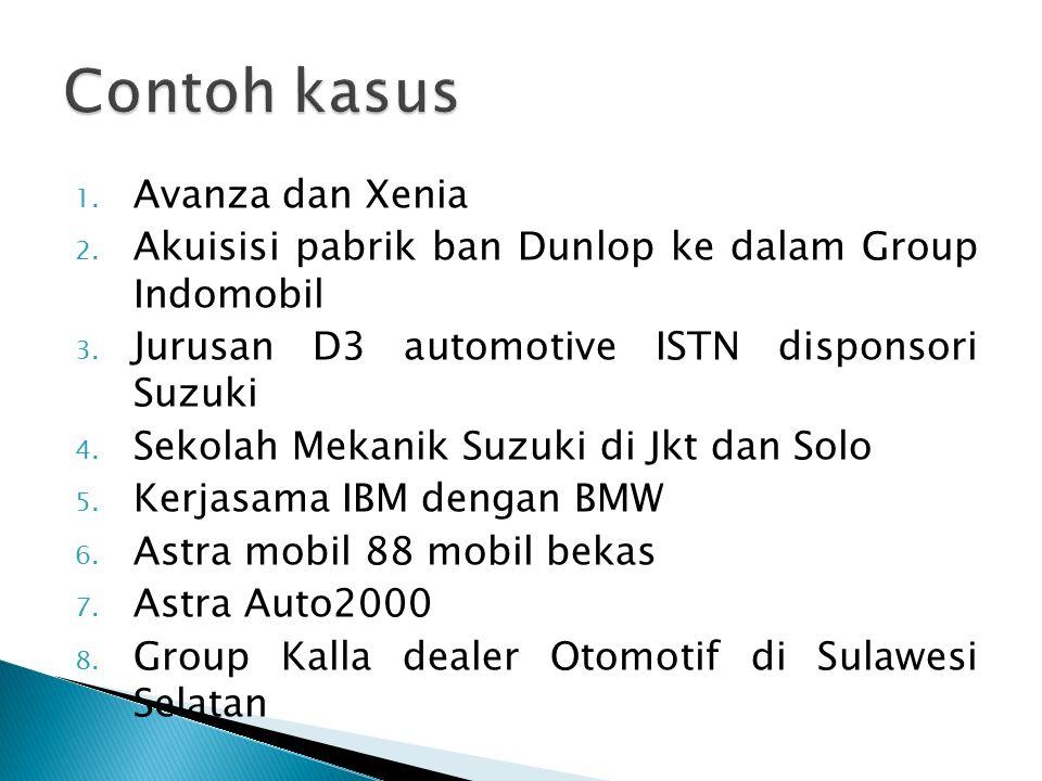 1. Avanza dan Xenia 2. Akuisisi pabrik ban Dunlop ke dalam Group Indomobil 3.