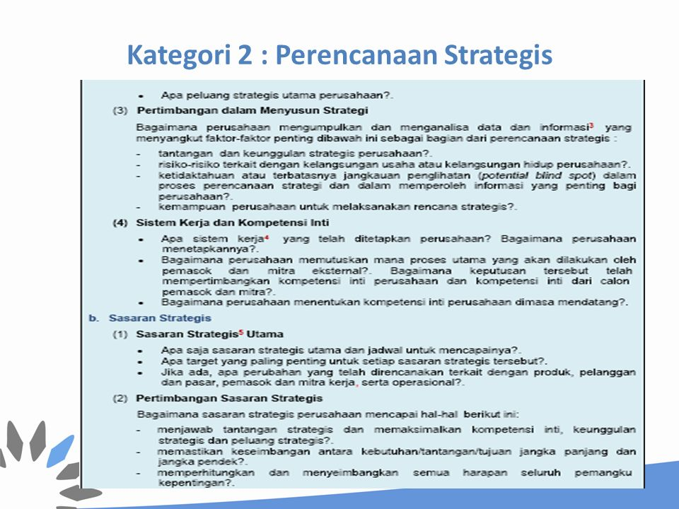 2.2 Implementasi Strategis