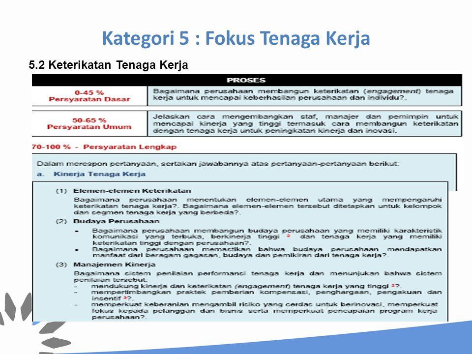 Kategori 5 : Fokus Tenaga Kerja