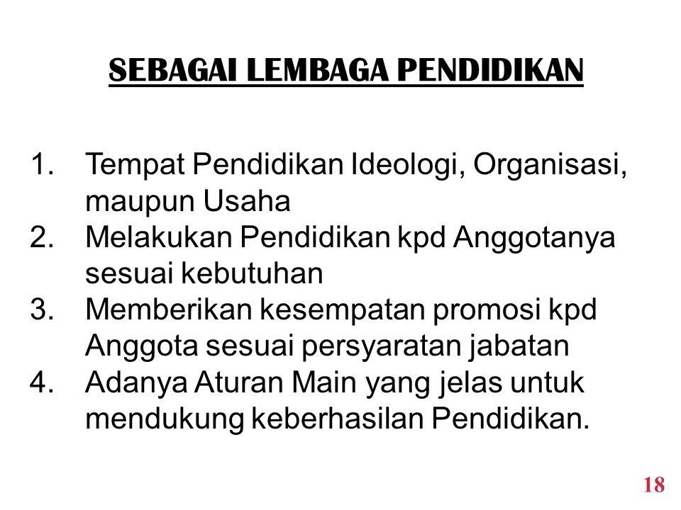 1.Keanggotaan bersifat terbuka, tdk diskriminatif 2.Pengelolaan bersifat terbuka thd Anggota 3.Perlakuan yg adil thd Anggota sesuai hak dan kewajiban