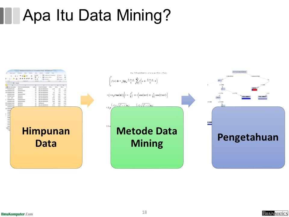 Apa Itu Data Mining 18 Himpunan Data Metode Data Mining Pengetahuan